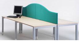 office desk divider. Jump Office Desk Screens, Mounted Wave Top Divider