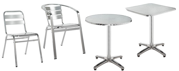 Aluminium Cafe / Breakout Seating And Tables