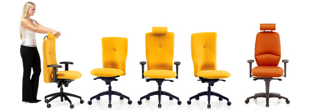 Pledge Posture Ergonomic Office Chairs And Seating From OMM Office