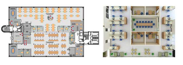 office room plan. office space planner 2d 3d room plan o